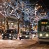 冬の繁華街