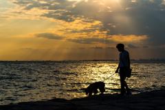 海辺の散歩。。♪