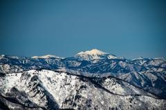 雪の燧ヶ岳と至仏山