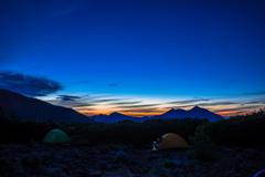 五色ヶ原の夜明け