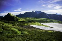 五色ヶ原の朝の風景