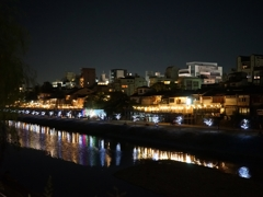 京都 鴨川の七夕