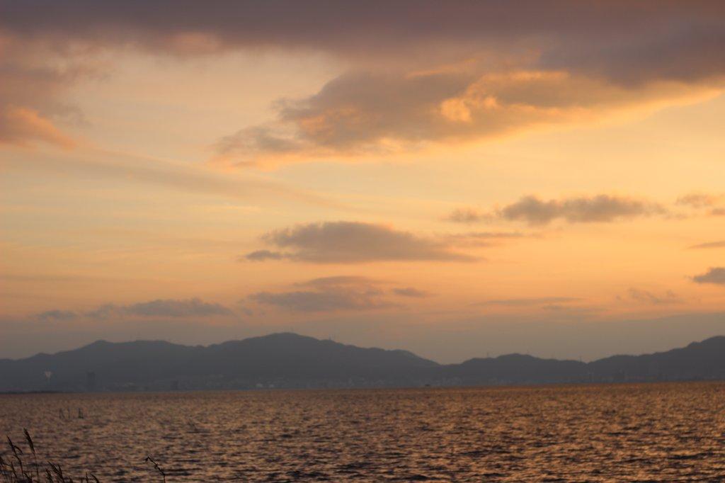 琵琶湖の夕日4