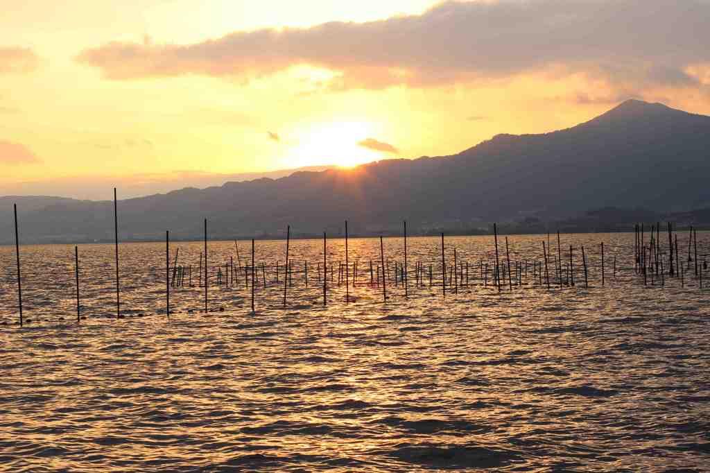 琵琶湖の夕日2