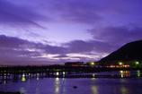 渡月橋の早朝
