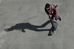 a skateboarder