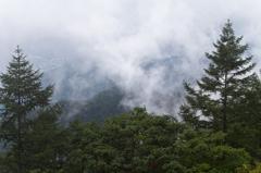 雲の隙間から見る下界