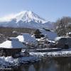 積雪後の忍野村①