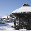 積雪後の忍野村②