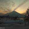 富士頭上から昇る雲