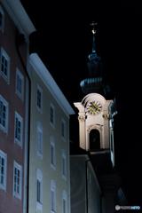真夜中の時計台