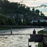 マカルト橋とシルエット