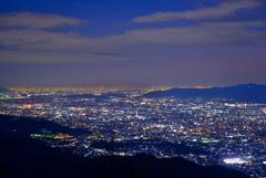 比叡山から見た京都夜景2