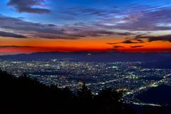 比叡山から見た京都夜景