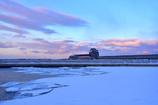 夕暮れの氷海展望塔