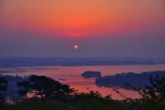 松島の朝日