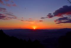 比叡山から見た夕日