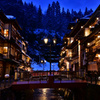 黄昏の銀山温泉3