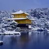 雪の金閣寺2