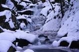 厳冬滝川渓谷