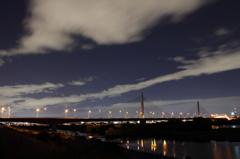 橋と夜 川と星