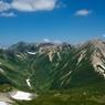 三俣蓮華岳山頂から鷲羽岳をのぞむ