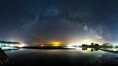 Spring night sky