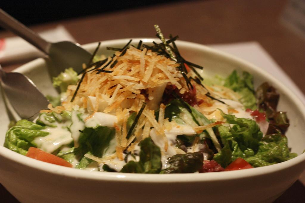 ポテトと山芋の梅ソースサラダ