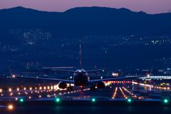 伊丹空港夕景
