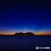 日没後のクルーズ船