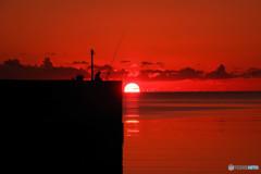 高野漁港日の出