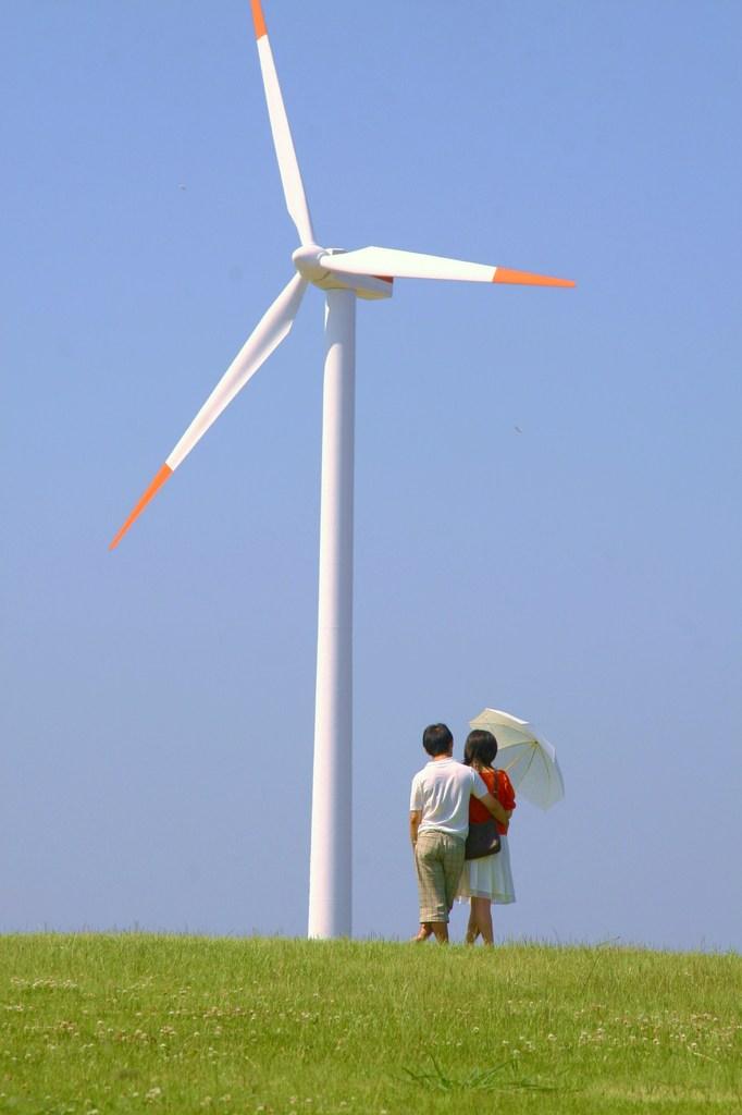 風車と、君と、青空と。。。
