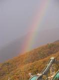 ジャンプ台と虹