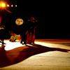 獅子舞と影