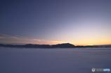 大雪の夕暮
