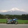 バイクと富士山
