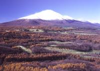 BRONICA GS-1で撮影した風景(浅間山初冠雪)の写真(画像)