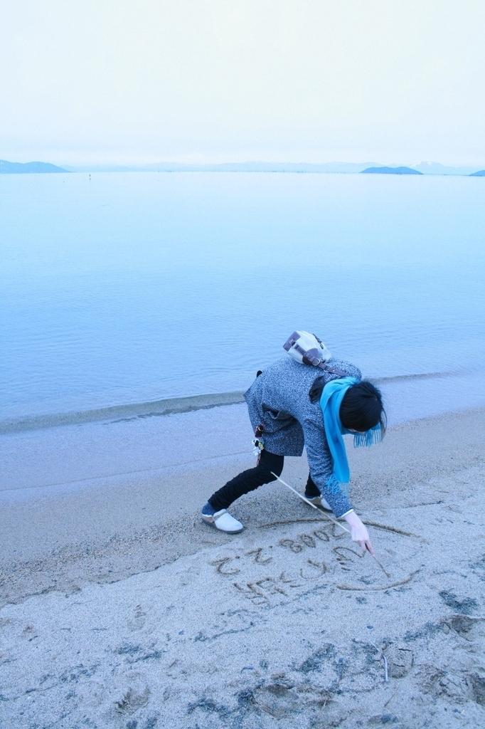 琵琶湖の畔