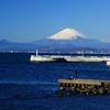 富士山と釣り人
