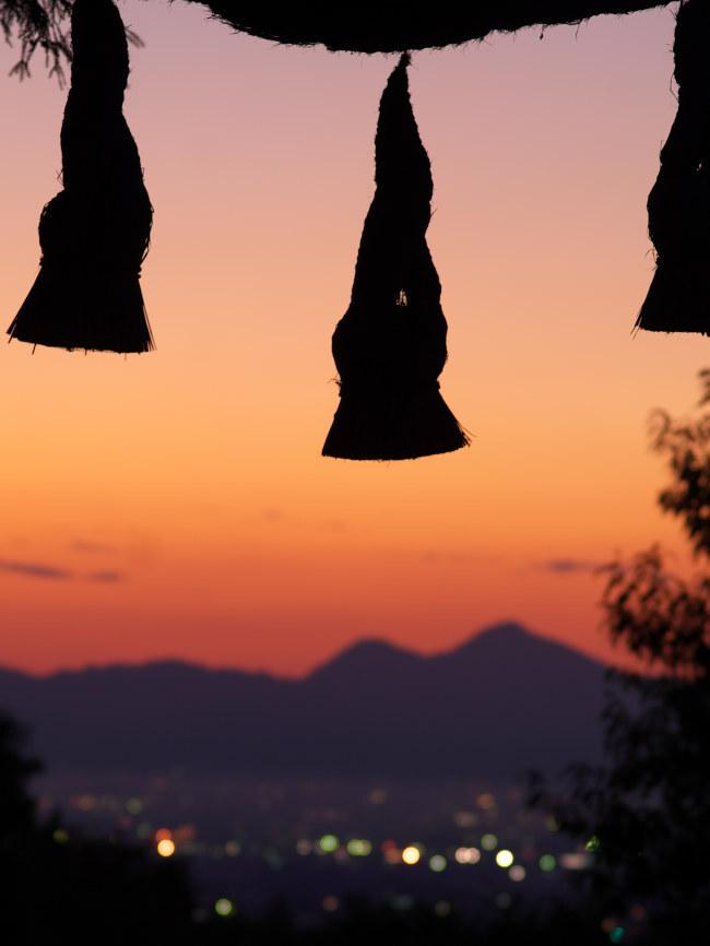檜原神社(三輪)の夕照