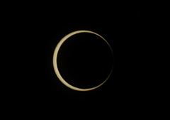 金環日食の開始ぎりぎり