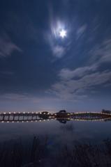 月に照らされ(鶴の舞橋)