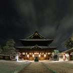 PENTAX PENTAX K20Dで撮影した建物(雪夜の善光寺:本堂)の写真(画像)