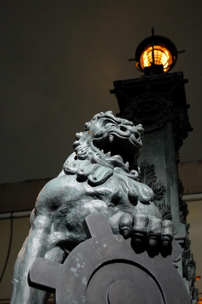 日本橋の聖獣-夜景