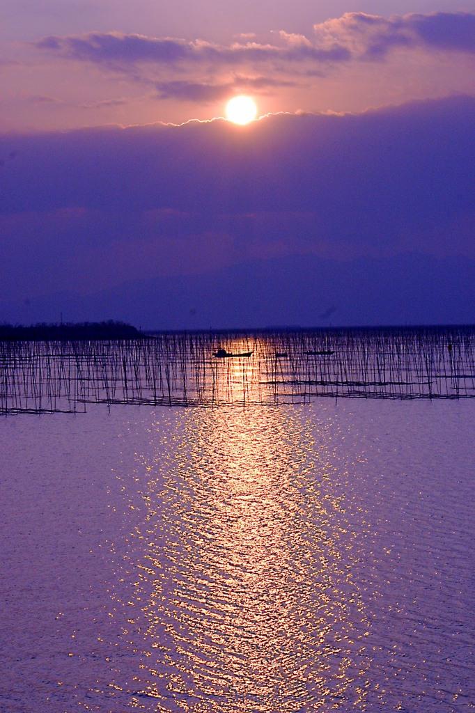 雲暗幕 有明海の情景3