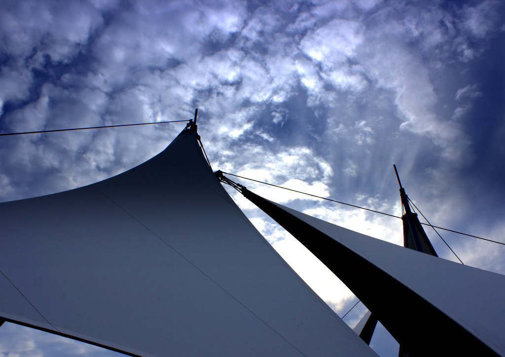 The sky over the sail