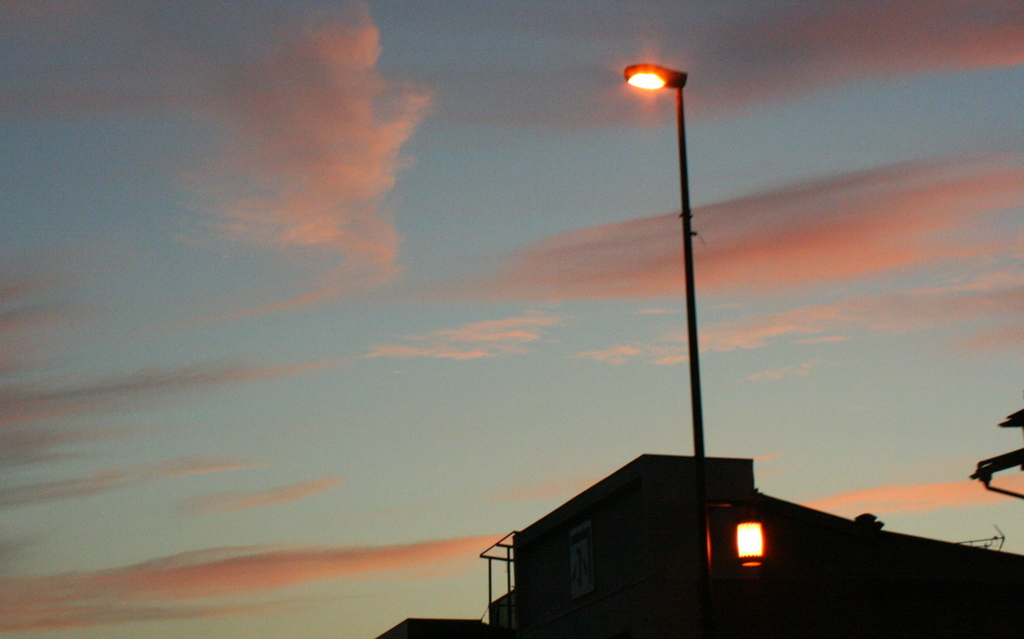 streetlight of the dusk
