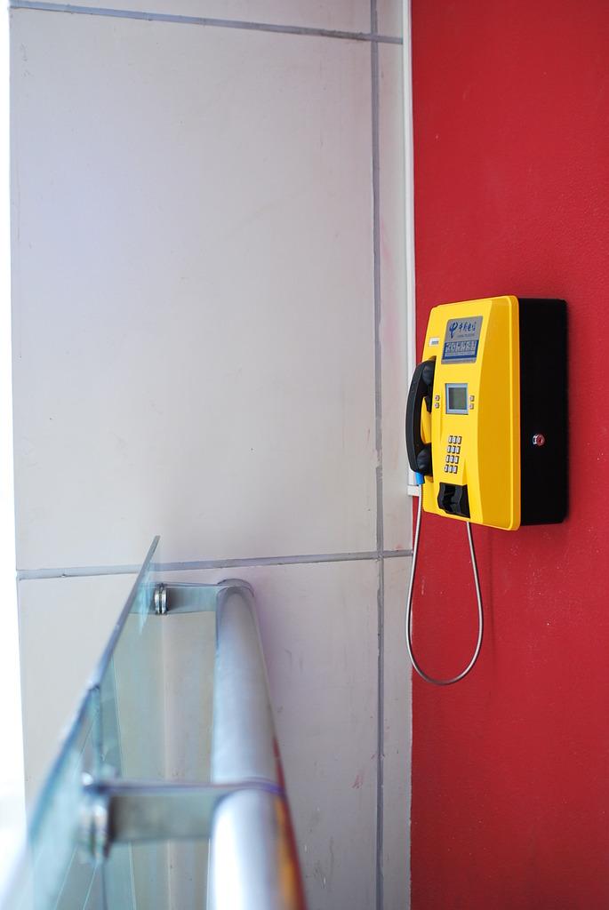 黄色い公衆電話
