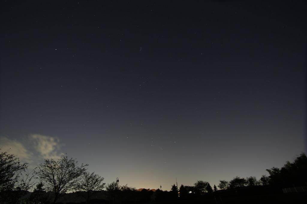 オリオン座 流星群は見れず・・・