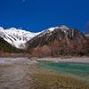 穂高岳と河童の川